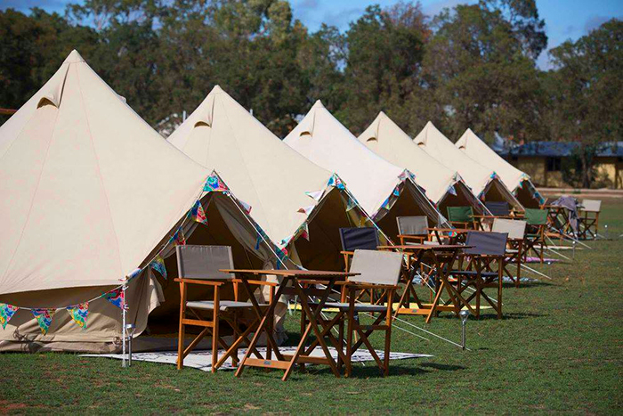 Glamping on the oval